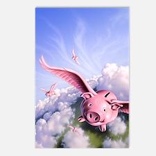 Pigs Away! Postcards (Package of 8)