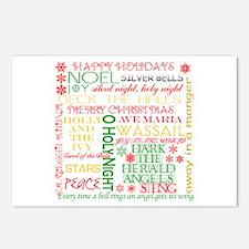 Christmas Carols Postcards (Package of 8)