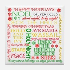 Christmas Carols Tile Coaster