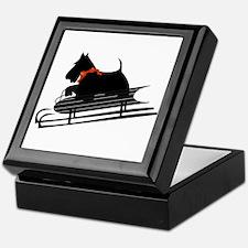 Scottish Terrier Sledding Keepsake Box