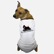 Scottish Terrier Sledding Dog T-Shirt