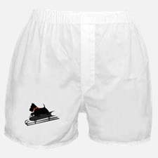 Scottish Terrier Sledding Boxer Shorts