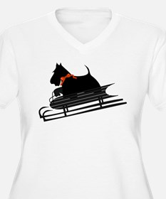 Scottish Terrier Sledding T-Shirt