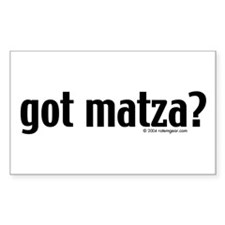"""Got Matza?"" Rectangle Decal"