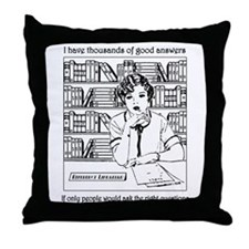 Reference Librarian Throw Pillow