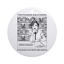 Reference Librarian Ornament (Round)