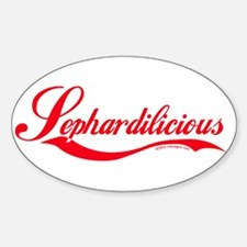 """Sephardilicious"" Oval Decal"
