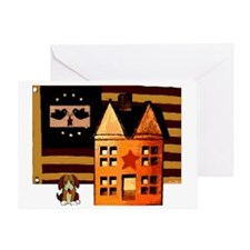 Promitive Art House , Flag ,a Greeting Card
