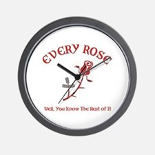Every Rose Wall Clock