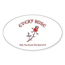Every Rose Oval Decal