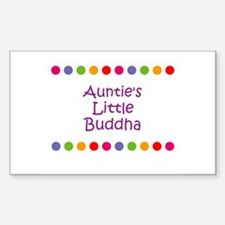 Auntie's Little Buddha Rectangle Decal