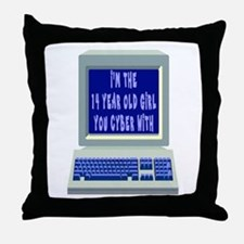 I'm THE 14 YEAR OLD YOU CYBER Throw Pillow