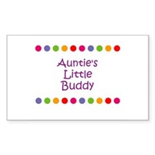 Auntie's Little Buddy Rectangle Decal