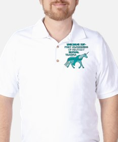 Unicorns Support Awareness Of Military T-Shirt