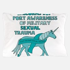 Unicorns Support Awareness Of Military Pillow Case