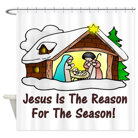 Jesus is the reason for the season shower curtain by for Jesus is the reason for the season coloring pages