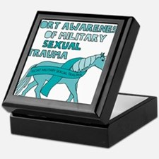 Unicorns Support Awareness Of Militar Keepsake Box
