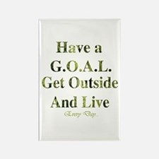GOAL - Get Outside And Live Rectangle Magnet