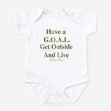 GOAL - Get Outside And Live Infant Bodysuit