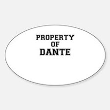 Property of DANTE Decal