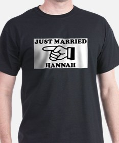 Just Married Hannah Ash Grey T-Shirt