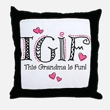 TGIF Fun Grandma Throw Pillow
