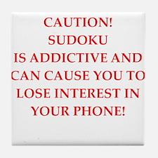 Sudoku joke Tile Coaster