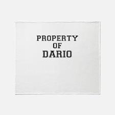 Property of DARIO Throw Blanket