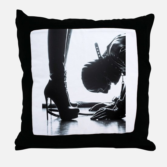 Male Submissive Throw Pillow
