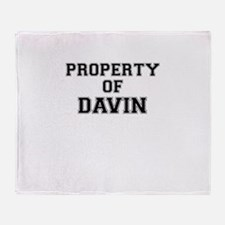 Property of DAVIN Throw Blanket