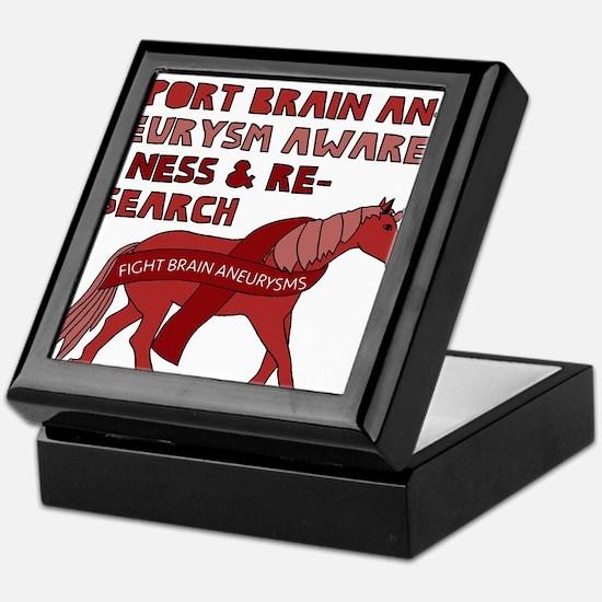 Unicorns Support Brain Aneurysm Aware Keepsake Box