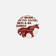 Unicorns Support Brain Aneurysm Awaren Mini Button