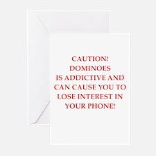 Dominoes joke Greeting Cards