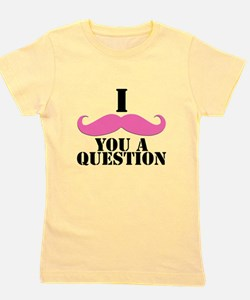 Unique I mustache Girl's Tee