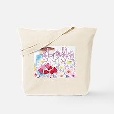 Cute American sign language Tote Bag