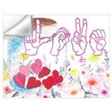 American sign language Wall Decals