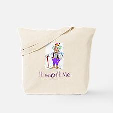 It wasn't Me Clown Design Tote Bag
