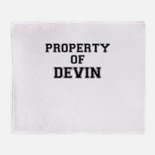 Property of DEVIN Throw Blanket