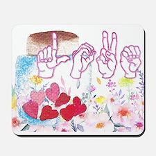 ASL Love Mousepad