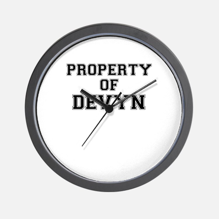 Property of DEVYN Wall Clock