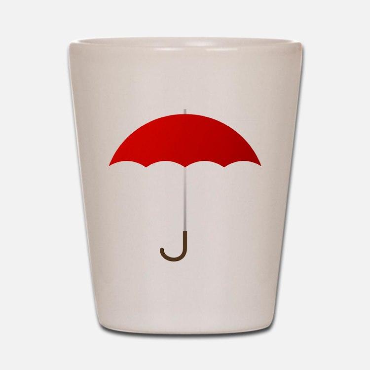 Red Umbrella Shot Glass