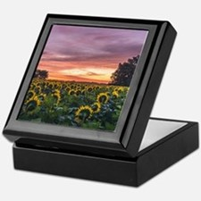 Kansas Sunflower Sunrise Keepsake Box