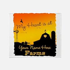 My Favorite Farm Throw Blanket