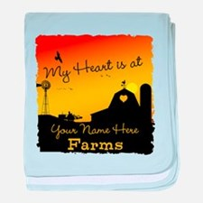 My Favorite Farm baby blanket