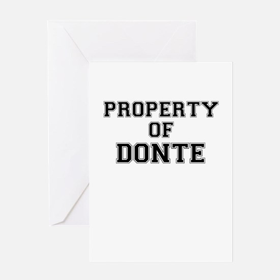 Property of DONTE Greeting Cards