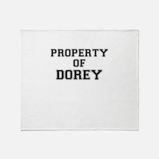Property of DOREY Throw Blanket