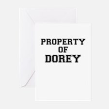 Property of DOREY Greeting Cards