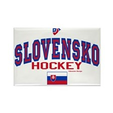 SK Slovakia Slovensko Hockey Rectangle Magnet