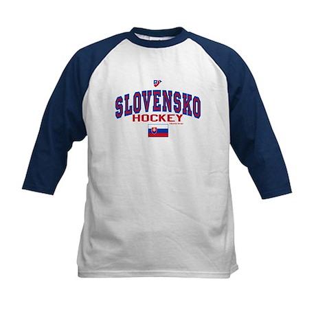 SK Slovakia Slovensko Hockey Kids Baseball Jersey