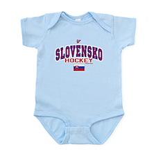 SK Slovakia Slovensko Hockey Infant Bodysuit